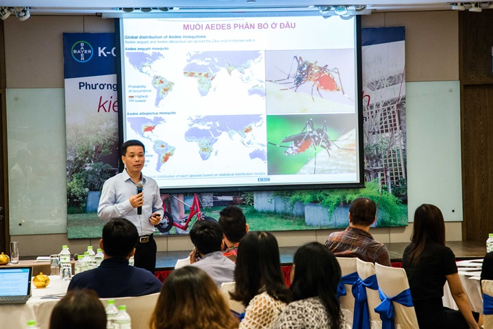 Mr. Le Trung Kien presents the current state of dengue hemorrhagic fever in Vietnam and his experience using K-Othrine® Polyzone™ 62.5 SC